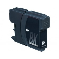 Brother LC980Bk y LC1100Bk Negro cartucho sustituto, reemplaza al LC-980 Bk y LC-1100 Bk