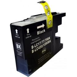 Brother LC1280Bk Negro cartucho sustituto, reemplaza al LC-1280 Bk, XXL ultra alta capacidad