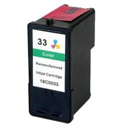 Lexmark 33 Color cartucho remanufacturado, reemplaza al Nº 33 018CX033E