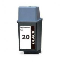 HP 20 Negro cartucho remanufacturado, reemplaza al 20, 36ml de capacidad