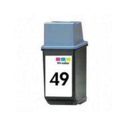 HP 49 Color cartucho remanufacturado, reemplaza al 49, 26ml de capacidad