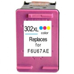 HP 302XL Color cartucho remanufacturado, reemplaza al F6U67AE